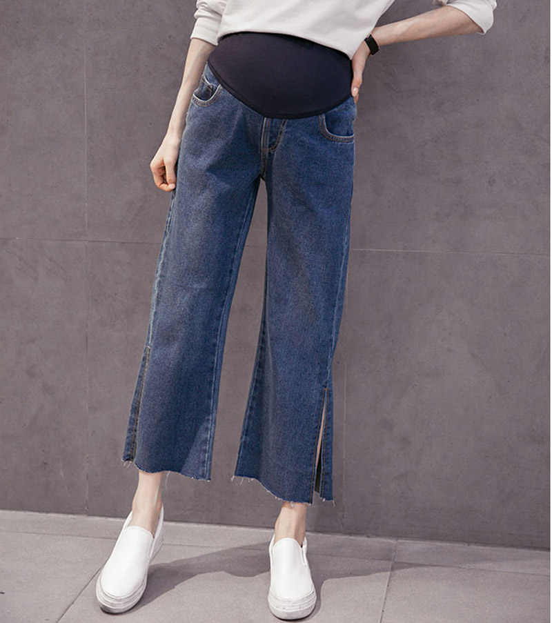9343db9397 Detail Feedback Questions about 2018 New arriva Maternity Denim Pant  Elastic bell bottom trousers Comfortable For Pregnant Women Capri pants  ankle length ...
