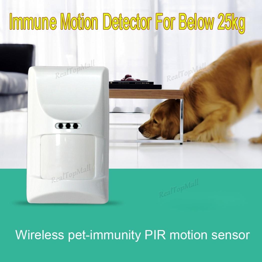 Good Quality 433MHz Pet Immune PIR Motion Sensor Detector for Wifi GSM Alarm G90B,G19,8218G,G15,G18 2pc mc 335rwireless pet immune pir motion sensor passive infrared detector for gsm pstn home alarm system 868mhz free shipping