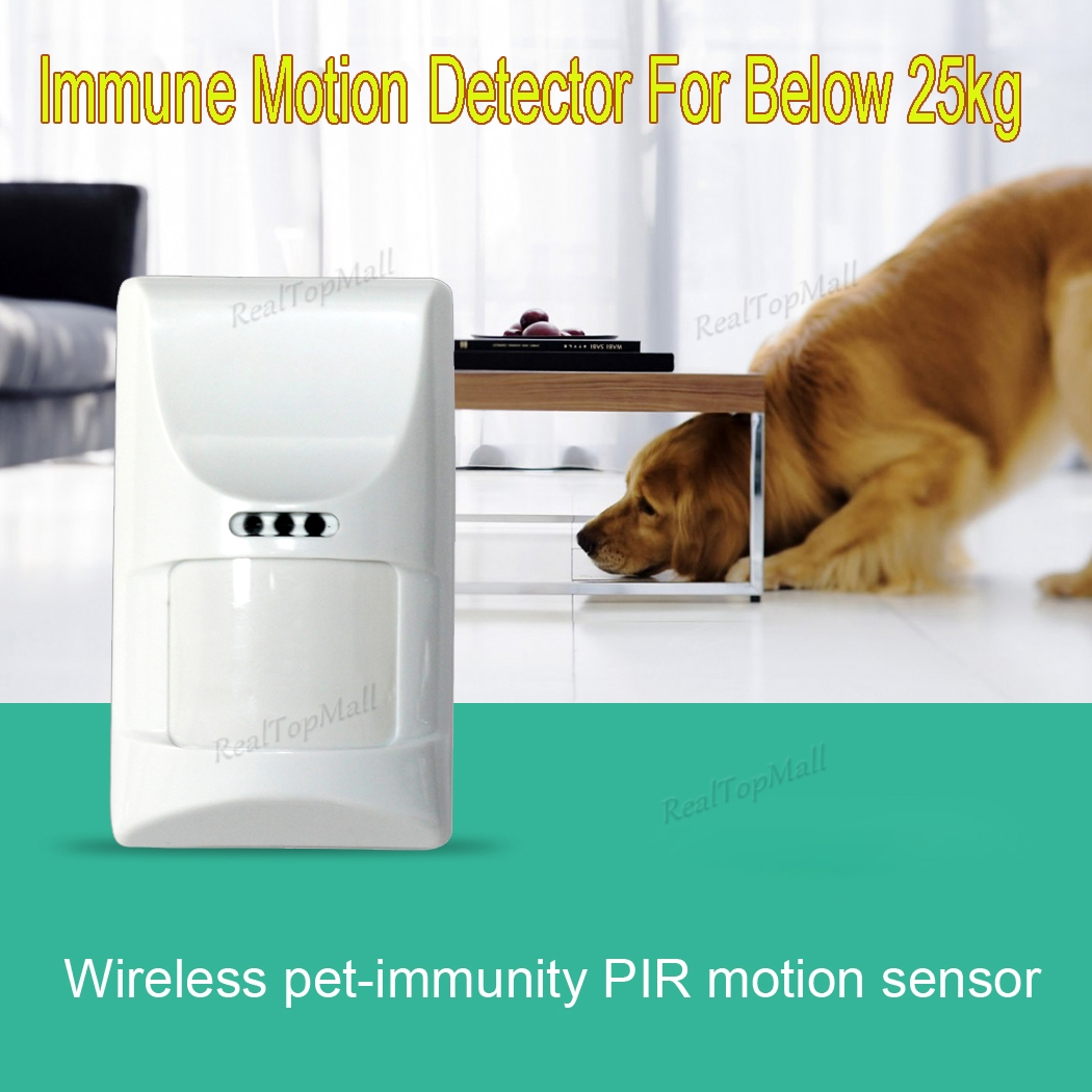 Wireless 433Mhz Pet Immune Motion PIR Detector For Security Home GSM Alarm System Security anti-pet immunity wireless pet immune outdoor motion sensor alarm detector for gsm pstn home security system 433mhz ip65 weatherproof