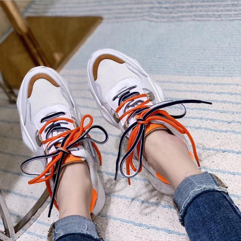 amarillo Naranja Verano Caliente Lujo De Nueva Plataforma Transpirable Blancos La Primavera Zapatillas Zapatos Malla Y Deporte Las Cómodo Casuales Mujeres Venta Marca v1Rwg