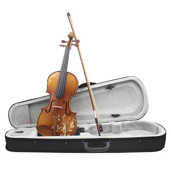 Professional 4/4 Spruce Wood Carving Violin with Bow String Rosin Mute Case Handmade handmade new solid maple wood brown acoustic violin violino 4 4 electric violin case bow included
