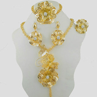 gold jewelry sets new design for african women necklace wedding jewelry party jewelry sets