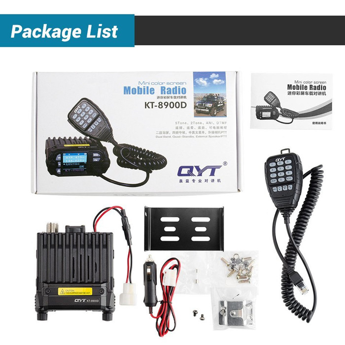 Image 5 - 100% Original QYT KT 8900D Dual Band Quad Vehicle Car Radio 136 174/400 480MHz Mobile Radio Transceiver Vehicle Muted-in Walkie Talkie from Cellphones & Telecommunications