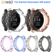 For Garmin forerunner 245/245M watch TPU Protector Case 360 Degree Cover Protective frame Shell