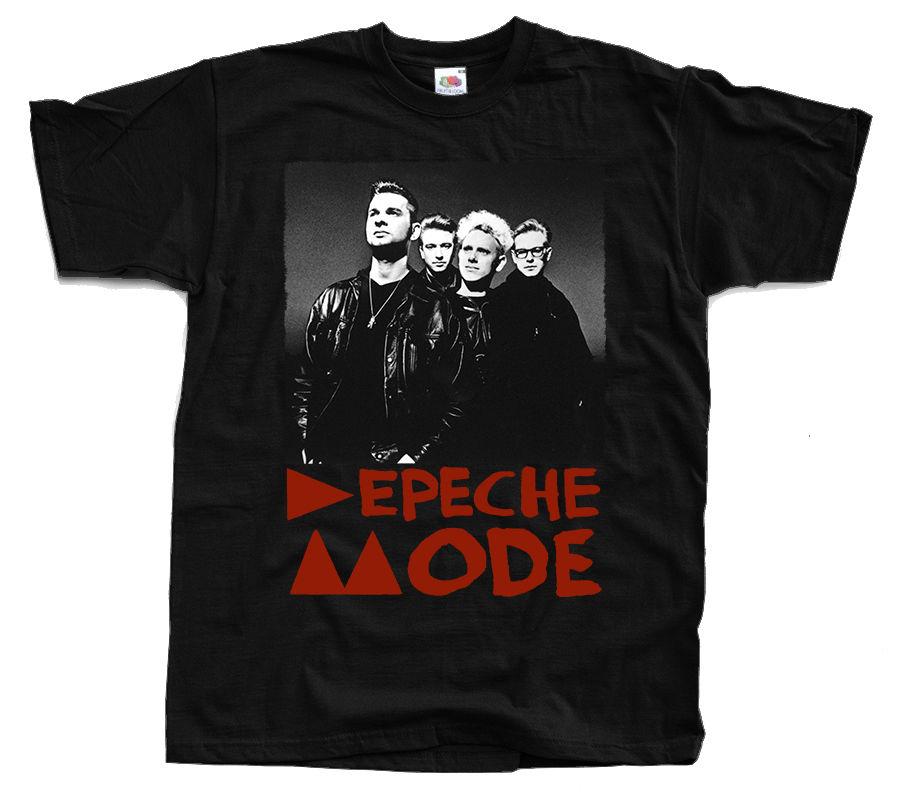 Cool T ShirtsMen/'s Fashion Crew Neck Depeche Mode Band/'s Photo T-Shirt Black Sizes S To 3XL Short-Sleeve T Shirts