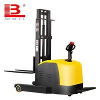 Factory direct 1T forward shift electric stacker battery telescopic forklift truck station drive automatic lift truck