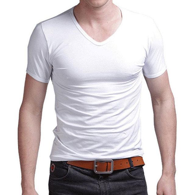 Stretch Lycra V Collar Mens...