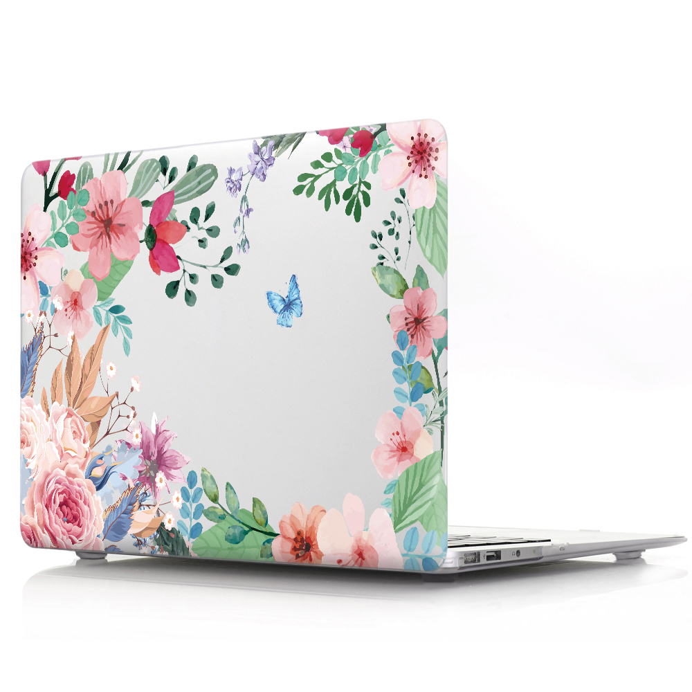 Flower Print Laptop Case For Macbook Air 11 Pro 12 13 15 16 Inch,Shell Cover For Mac Book Air 13.3 Pro 13 15 Retina Touch Bar