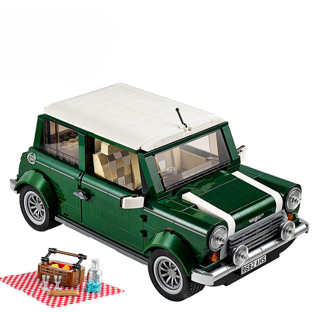 Bela 10568 Create Series Mini Cooper Camper Model Building Kit Blocks  Bricks Toy Gift With LEPIN