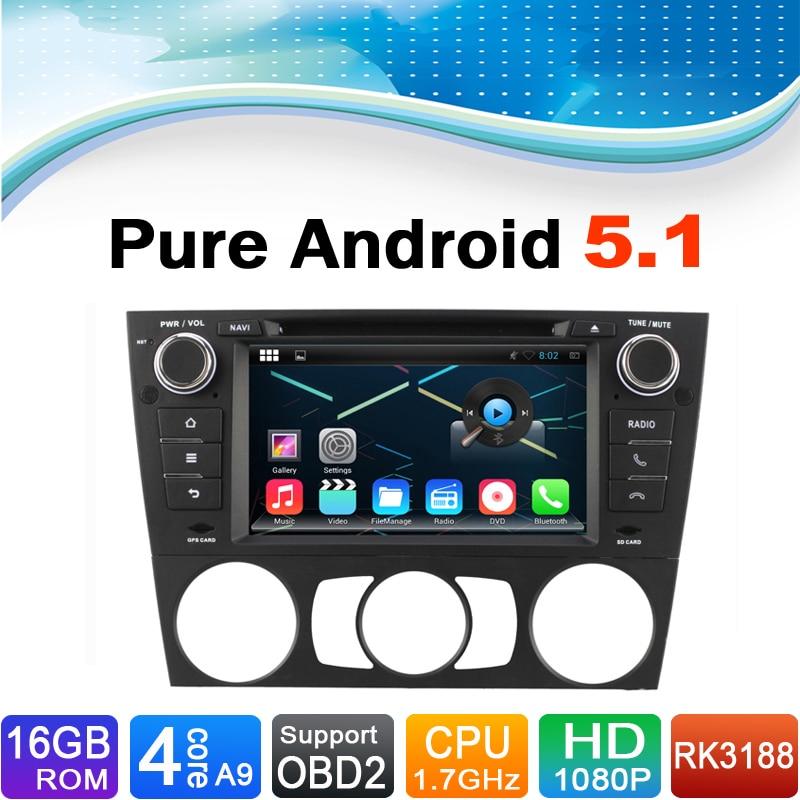 16 ГБ flash, 4 ядра, 1024x600, android 5.1 автомобиль DVD GPS Радио GPS для BMW 3 серии E90 E91 E92 E93 с ручным кондиционера