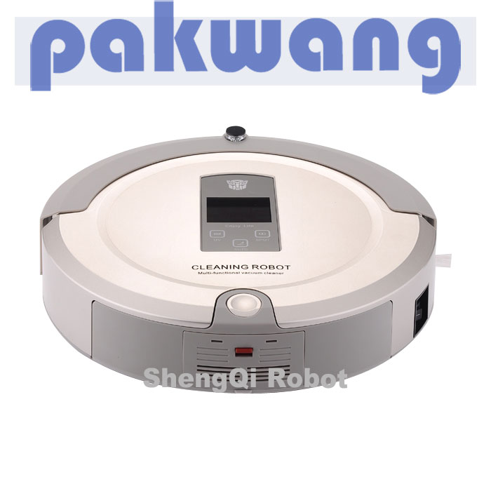 (Shipping by EMS DHL POST to the World ) Large LCD Display Cleaning Robot 4 in 1 Mutifunctional Robot Vacuum Cleaners