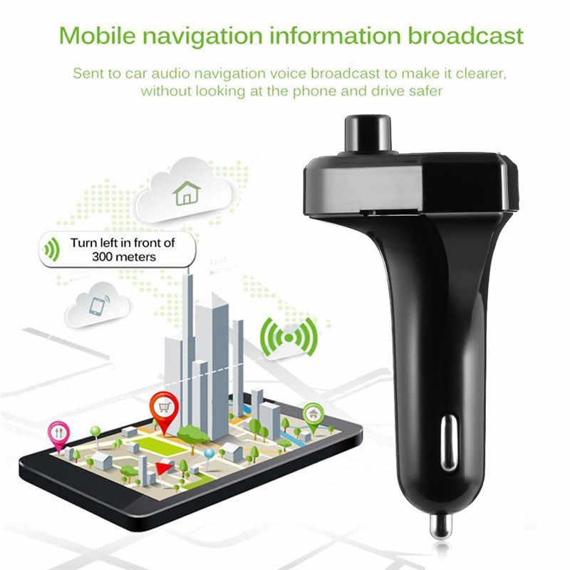 Bluetooth fm transmissor carro mp3 player de música áudio duplo usb rádio modulador carro kit handsfree com 5 v 3.1a carregador usb estilo