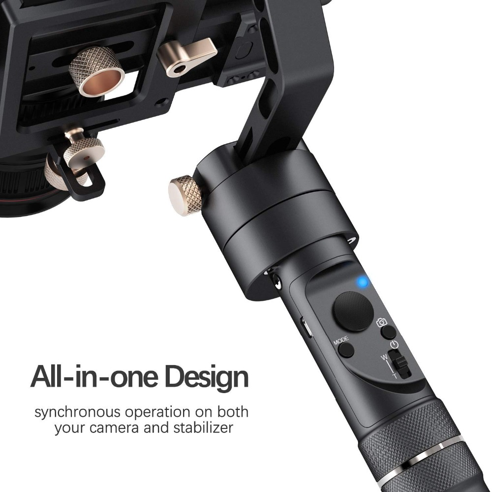 Zhiyun Crane Plus 3 Axis Handheld Gimbal for Sony Caaanon DSLR Mirrorless Camera 5.5lb Payload Timelapse Object Track FPV POV Mode321