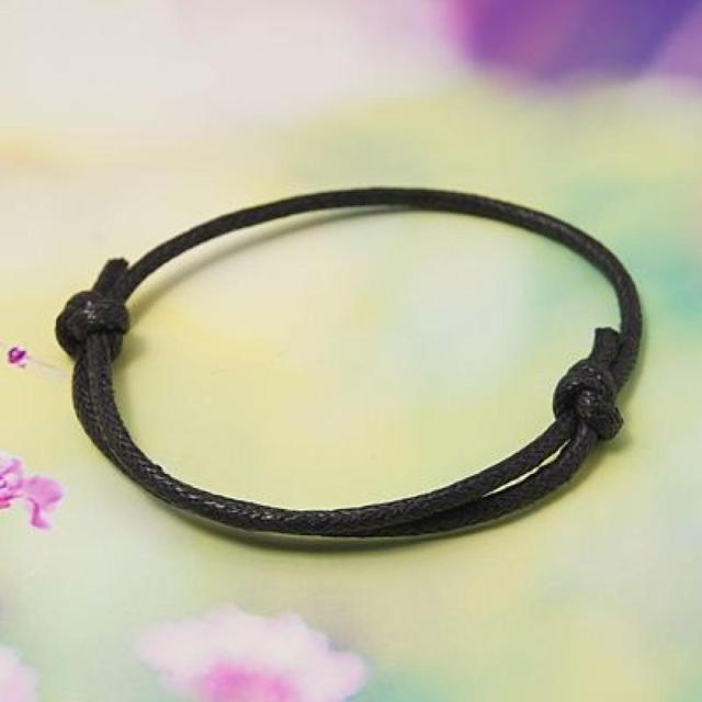 Wax Cord Bracelet Making Black Adjule Diameter 50 75mm