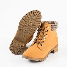 Mulheres marca de Moda Ankle Boots Heels Lace up Calçados Casuais da Mulher Oxfords Botas de Ferramentas de Couro Preto Amarelo Plus Size 40 41 42(China (Mainland))