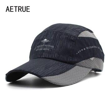 Aetrue marca verano hombres SnapBack mujeres gorra de béisbol sombreros  para hombres gorra femenina malla casual casquette papá sombrero de béisbol  CAPS 5aa931f4fcc