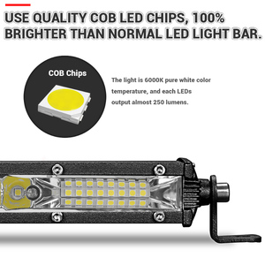Image 4 - Ultra Slim 10 20 30 led light bar 12V 24V Led Bar Combo Spot Flood Driving work Light for Jeep Trucks Tractor off road 4x4
