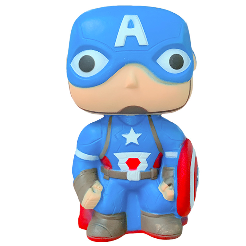 Jumbo Avengers Super Hero Batman Spiderman Iron Man Captain Squishy Slow Rising Stress Relief Squeeze Toy For Kid Xmas Gift Toy