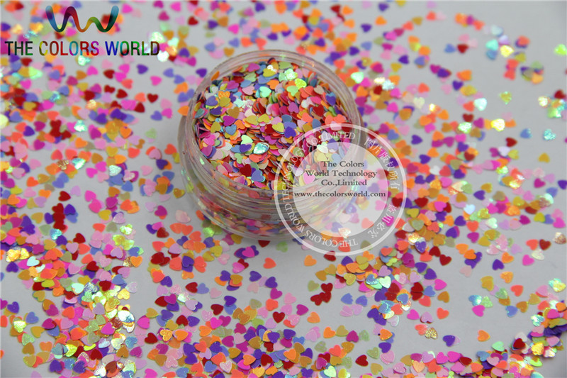 HR25-148  Mix 2.5 MM Pastel matt Pearlescent Colors Heart  shape Glitter for Nail Art  and DIY supplies1pack=50g dn2 39 mix 2 3mm solvent resistant neon diamond shape glitter for nail polish acrylic polish and diy supplies1pack 50g