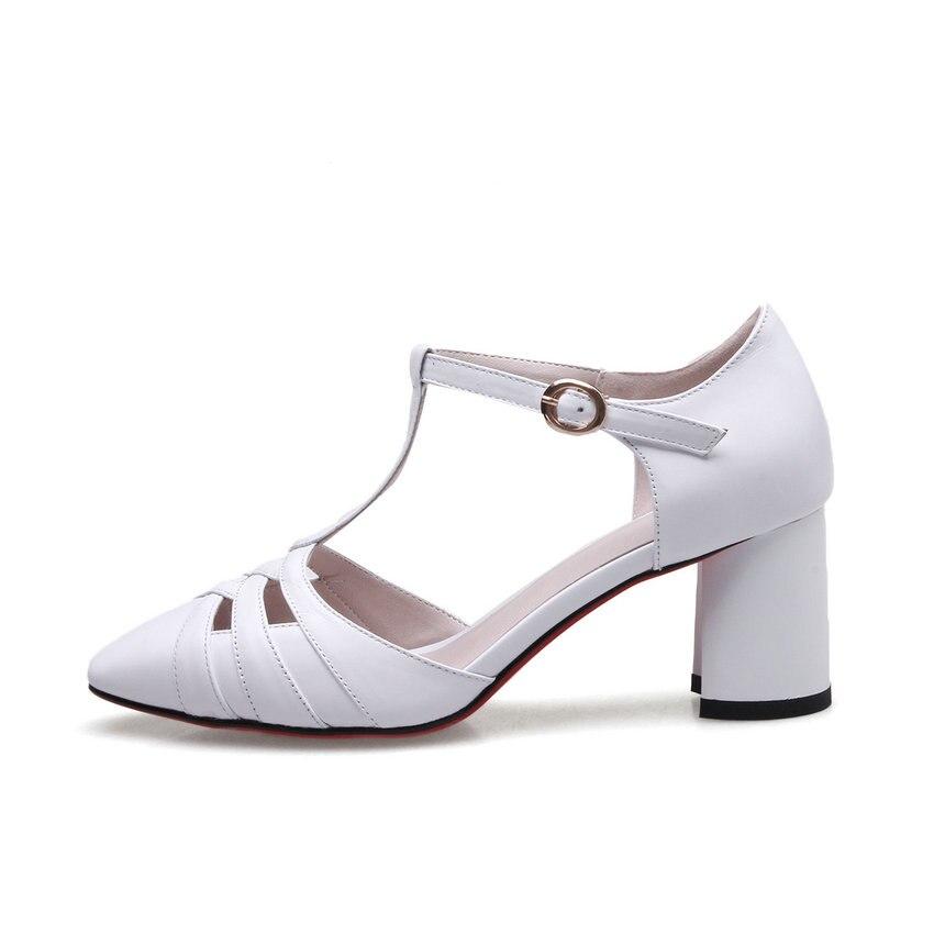 Taille 34 Pompes À Chaussures Cuir Talons En Les De Qutaa Noir blanc 39 Femmes Dames Match Vache forme Pour Carré Tous Hauts Plate Pu Des 2019 1Tf0B