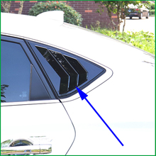 For Nissan Sentra / Sylphy Sedan 2014-2018 ABS Rear Window Blind shades Louver Frame Sill Molding Cover Sticker Trim Car-Styling ipoboo 16pcs stainless steel door window frame sill molding trim for ford fiesta sedan