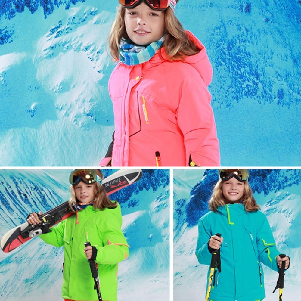 Cool conçu hiver en plein air neige Ski garçon Sports de plein air tissu manteau Top qualité fille Ski manteau livraison directe