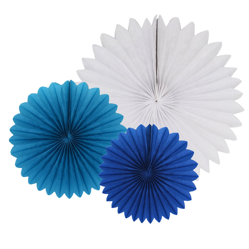 Decorative Wedding Party Paper Crafts 4''-12'' Paper Fans DIY Hanging Tissue Paper Flower for Wedding Birthday Party Festival(China)