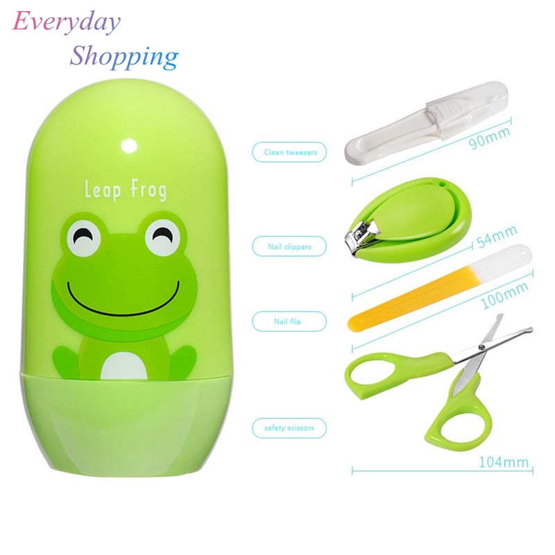 Newborn 4PCS Baby Healthcare Sets Nail Care Infant Finger Trimmer Scissors Nail Clippers Travel Cartoon Animal Storage Box SuitsNewborn 4PCS Baby Healthcare Sets Nail Care Infant Finger Trimmer Scissors Nail Clippers Travel Cartoon Animal Storage Box Suits