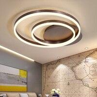 2018 Nordic кольца art Современные светодиодные светильники потолочные для гостиной спальня Plafon дома, потолочные лампы освещения дома светильник