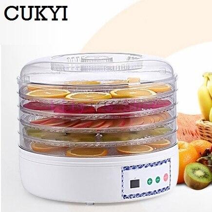 Déshydrateur de nourriture séchée fruits légumes herbe collations séchoir Machine de séchage de viande fruits déshydratation machine 5 plateaux couches EU US plug