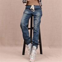 Arrival Winter Warm Jeans Women Thicken Fleece Skinny Harem Pants Trousers Elastic Waist Denim Trousers Plus Size Pants C1504 2