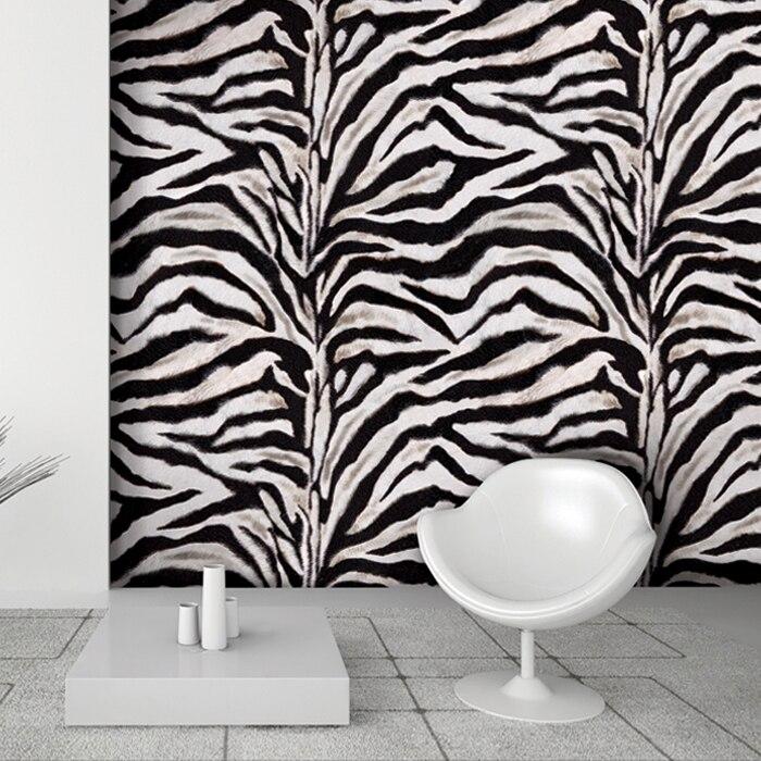 Zebra Print Behang.6136 Grote Rol 1 06m 15 6m Roll Zwart Wit Zebra Print 3d Vinyl