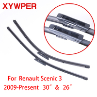 High Quality Wiper Blades For Renault Scenic 3 2009 Present 30 26 Car AccessoriesSoft Rubber Windscreen