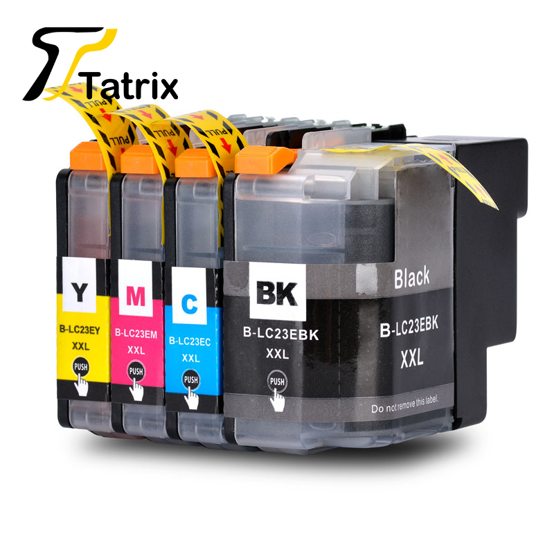 LC23 LC23E LC23EXXL BK C M Y New Full Ink Cartridge For Brother MFC J5920DW Printer
