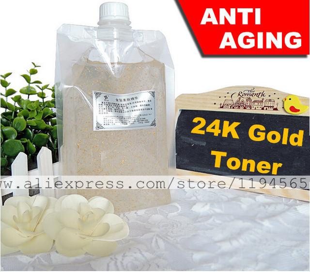1 KG Nano 24 K Decleo r hoja dorado tóner cuidado de la piel Serum Anti Anti Aging arrugas blanquear antienvejecimiento Mosturizing 1000 ml Beauty Salon Equipment