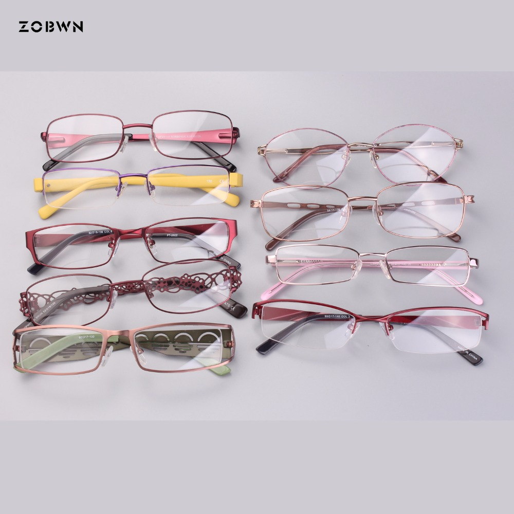 c6744b73c12 Mix wholesale cheap metal simple classic eyeglasses fake full rim Glasses  Women gafas reading Eyewear Frame half frame Glasses