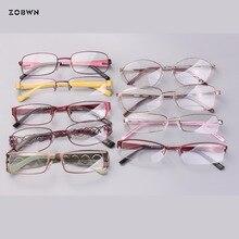 Mix wholesale cheap metal simple classic eyeglasses fake full rim Glasses Women gafas reading Eyewear Frame half frame