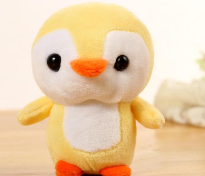 2019 リトルかわいい 10 センチメートルぬいぐるみペンギンペット置物約小さなペンギンリトルぬいぐるみギフトベビードールおもちゃ 4 色