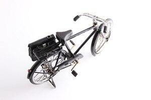 Image 5 - أسود معدن دراجة نموذج و البسيطة ولاعة محاكاة لعبة هدية الديكور نموذج