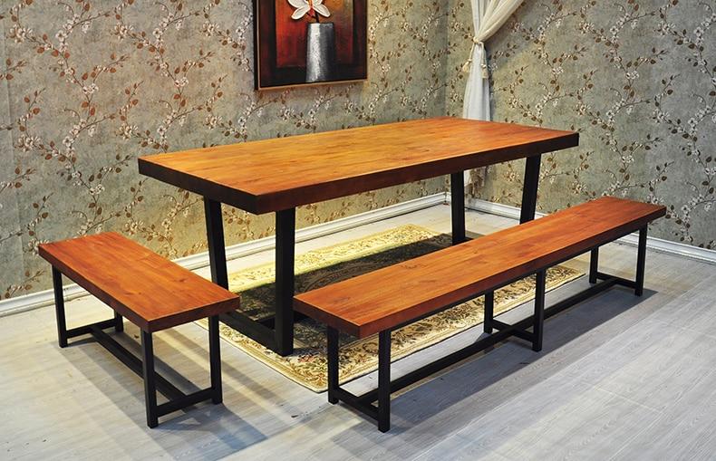 Hierro americano loft retro mesa de comedor para hacer viejos de ...