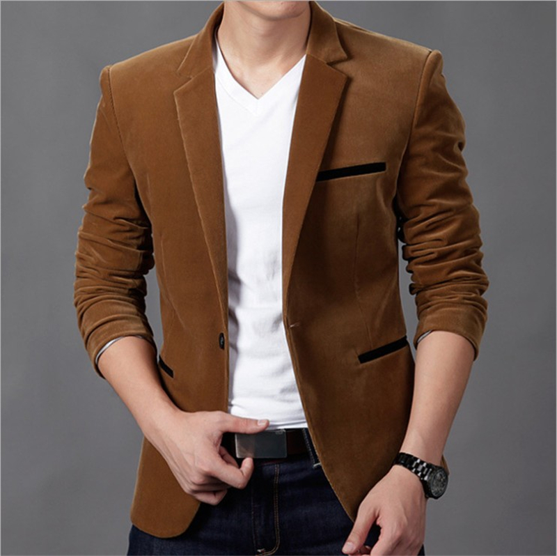 NEW Spring Autumn Mens Fashion Brand Casual Blazer British's Style Slim Fit Suit Jacket Male Blazers High Quality Coat Plus Size