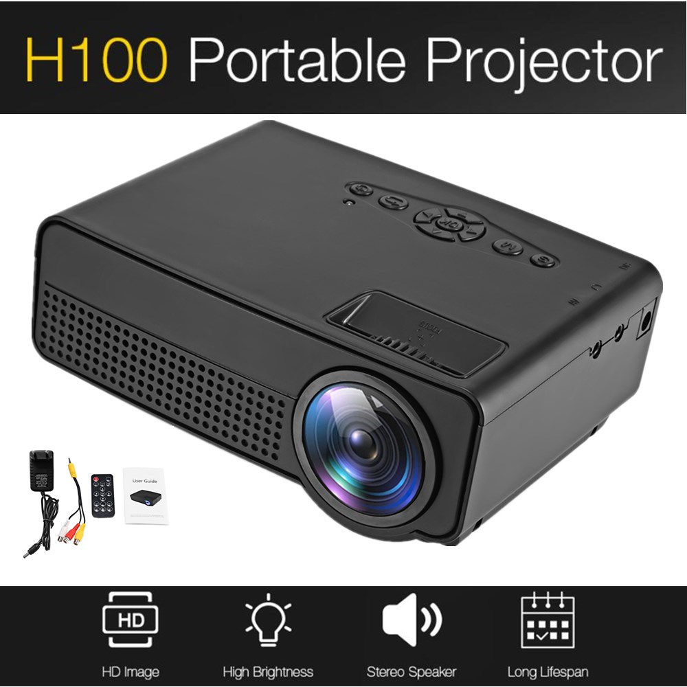 800 Lumens Home Theater Mini Portable Led Multimedia: H100 Portable Mini LED Projector Home Theater Cinema 600