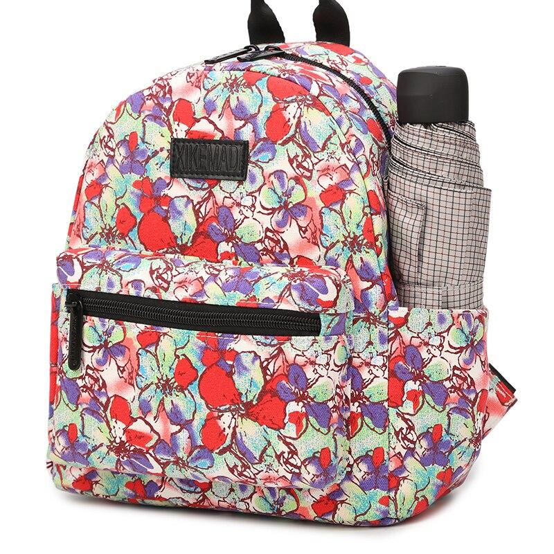 Women Backpack for Teenage Girls School Bagpacks Mini Backpack Bag Flower Female Backpacks Student Shopping Travel Study in Backpacks from Luggage Bags