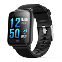 Q9 smartwatch with heart rate monitor blood pressure clock smart watch support Facebook WhatsApp for men women