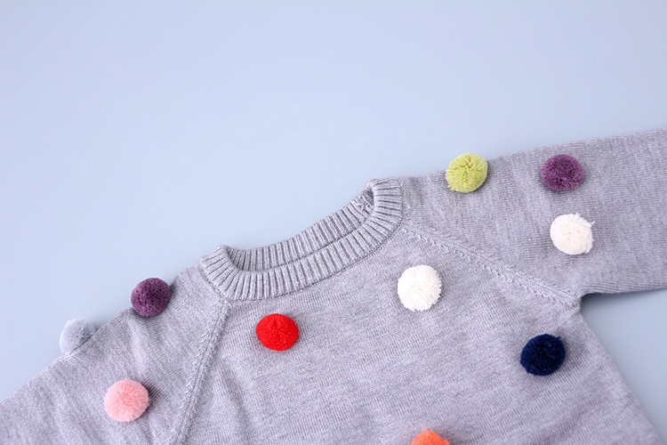 d3ff27309c44 new brand children sweaters winter plush ball cotton cashmere baby ...