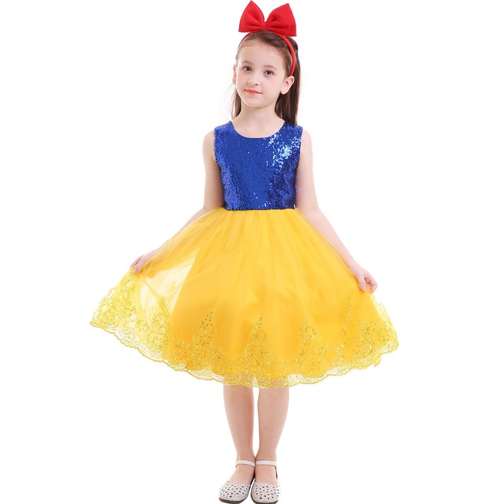 048bcaadc Snow White Princess Romper Headband Christmas Costume Baby Girls ...