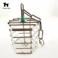 Free Shipping Creative Pet Bird Parrot Squirrel Bold Stainless Steel Food Cage Hanging Foraging Toys Macaw
