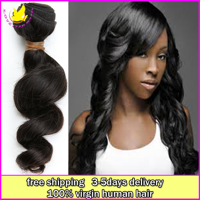 Cheap100 Indian Remi Goddess Virgin Human Loose Wave Hair Rosa