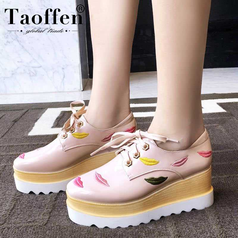 Taoffen Young Ladies Sweet Club Spring New Pumps Cross Strap Thick Bottom Platform High Heel Shoes Women Daily Party Size 34-43Taoffen Young Ladies Sweet Club Spring New Pumps Cross Strap Thick Bottom Platform High Heel Shoes Women Daily Party Size 34-43