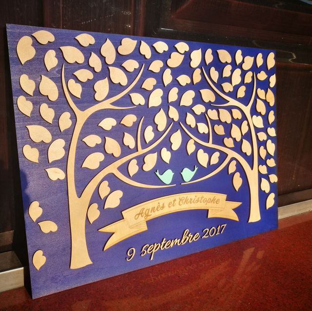 wedding decoration table personalised wedding guest book alternative